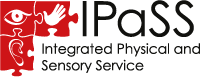Integrated physical and sensory service logo