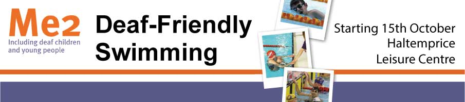 Deaf friendly swimming at Haltemprice Leisure Centre.